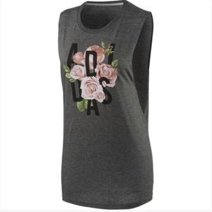 NWOT adidas Women Floral Graphic Muscle Tank Sz S